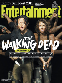THE WALKING DEAD LAUREN COHEN AND STEVEN YEUN