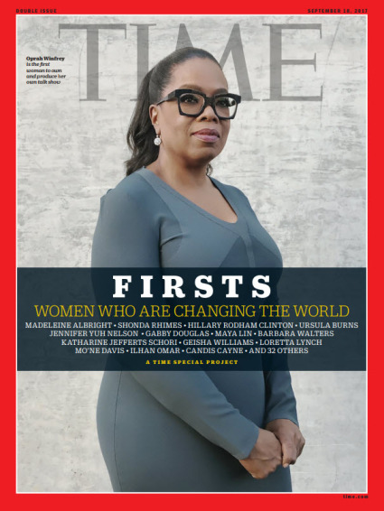 TIME FIRSTS Cover - Oprah Winfrey
