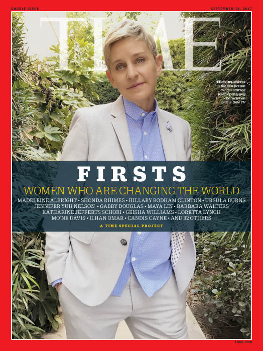 TIME FIRSTS Cover - Ellen DeGeneres