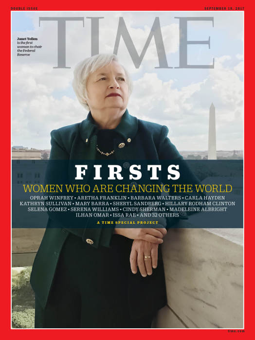 TIME FIRSTS Cover - Janet Yellen