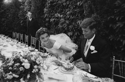 John F. Kennedy and Jacqueline at their Wedding Reception, by Lisa Larsen, 1953