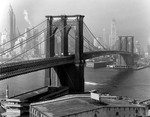 Brooklyn Bridge and Manhattan Skyscrapers, by Andreas Feininger, 1948