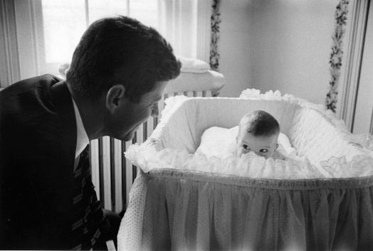 John F. Kennedy and his Daughter Caroline, by Ed Clark, 1958