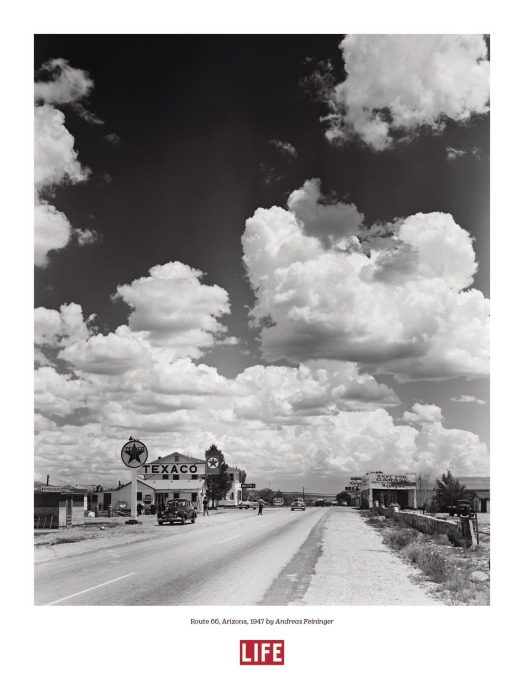 Route 66, Arizona, by Andreas Feininger, 1947, Poster