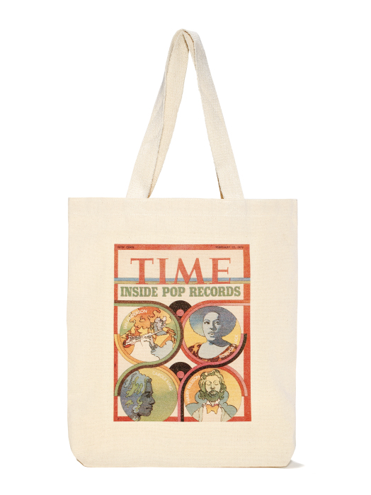 Pop Records 1973 TIME Cover Tote Bag