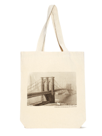 Brooklyn Bridge and Manhattan Skyscrapers Tote Bag