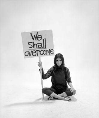 Gloria Steinem, 1965, by Yale Joel