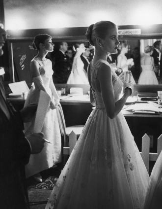 Audrey Hepburn and Grace Kelly, 1956, by Allan Grant