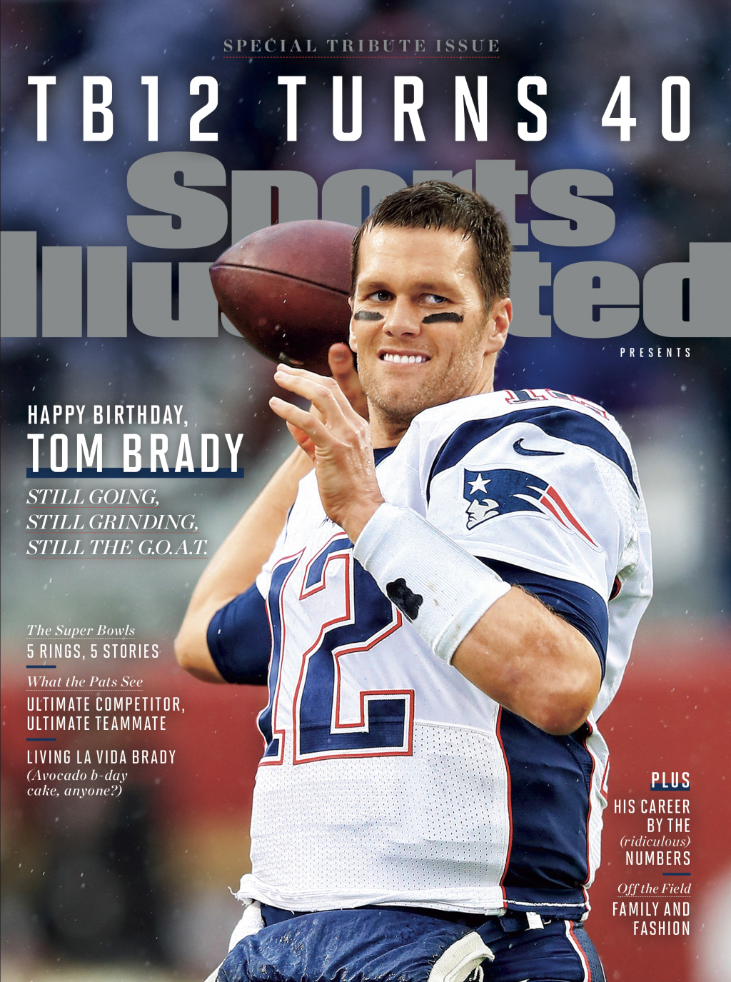 SPECIAL TRIBUTE ISSUE : TB12 TURNS 40