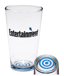 EW BULLSEYE PINT GLASS