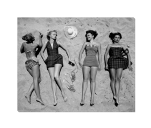 Beach Fashions Wrapped Canvas Art Print