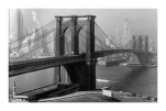 Brooklyn Bridge Wrapped Canvas Art Print