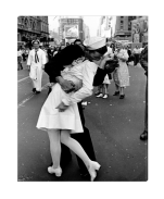 V-J Day Wrapped Canvas Art Print