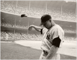 Mickey Mantle Wood Art Print