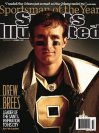 SPORTSMAN OF THE YEAR DREW BREES DOUBLE ISSUE