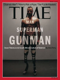 MAN SUPERMAN GUNMAN OSCAR PISTORIUS