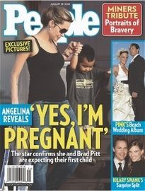 ANGELINA REVEALS YES, I'M PREGNANT
