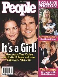IT'S A GIRL! KATIE HOLMES AND TOM CRUISE