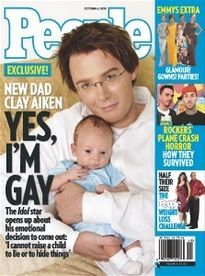 NEW DAD CLAY AIKEN YES, I'M GAY