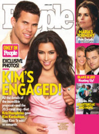 KIM'S ENGAGED! KIM KARDASHIAN-KRIS HUMPHRIES