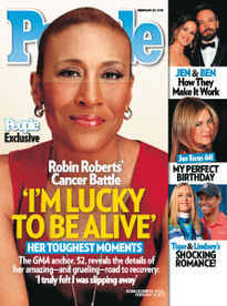 I'M LUCKY TO BE ALIVE ROBIN ROBERTS