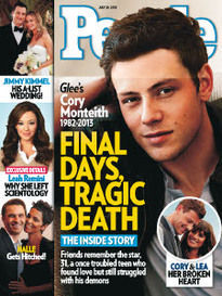 FINAL DAYS, TRAGIC DEATH GLEE'S CORY MONTEITH