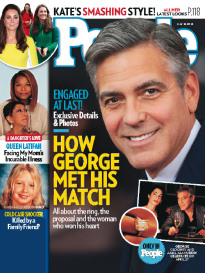 ENGAGED AT LAST! HOW GEORGE MET HIS MATCH