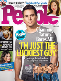 'I'M JUST THE LUCKIEST GUY' CHANNING TATUM