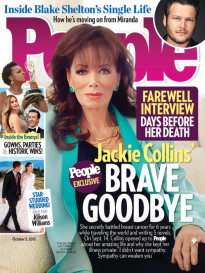 JACKIE COLLINS' BRAVE GOODBYE