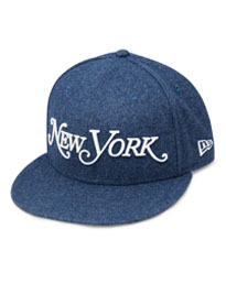 Denim Blue Wool New Era Snapback Hat