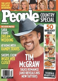 PEOPLE COUNTRY SPECIAL SEPT 2008 TIM MCGRAW