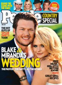 PEOPLE COUNTRY SPECIAL JULY 2011 BLAKE & MIRANDA