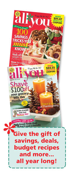 Give the gift of savings, deals, budget recipes, and more... all year long!