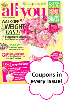 Coupons in every issue!