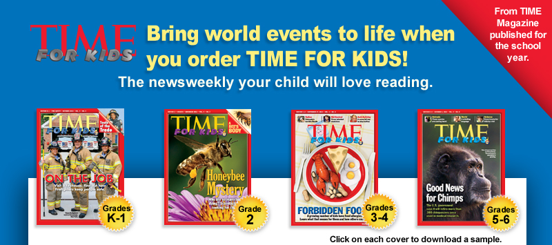 Bring world events to life when you order TIME FOR KIDS!