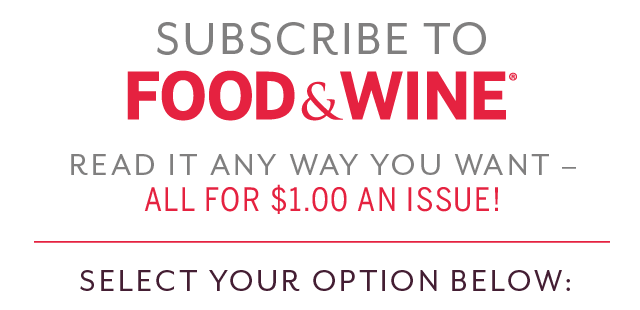 Subscribe to Food & Wine